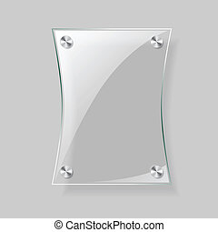 Glass rectangle plane - Glass vector rectangle plane Easy...