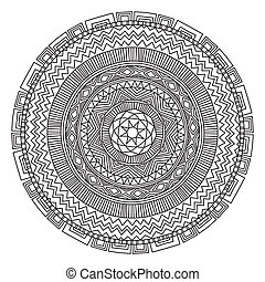 Mandala Round Ornament Pattern Element for design