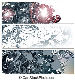 Beautiful backgrounds set with flor - Vector backgrounds set...