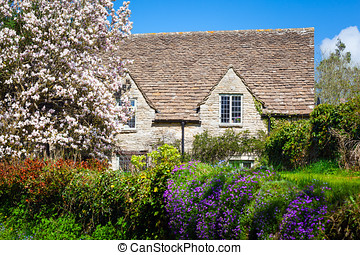 Quaint English Country Cottage - Stone cottage surrounded by...