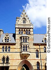 Christ Church College, Oxford. - Front facade of the Meadow...