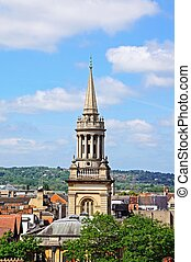 Lincoln College, Oxford. - Elevated view of Lincoln College...