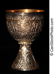 Holy Grail - Photo of a silver cup with gold inside edge...