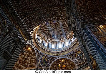 St. Peter's Basilica, Vatican City. Indoor interior