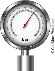 Barometer industrial manometer  vector illustration