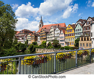 Tubingen, Tuuml;bingen, a traditional university town in...