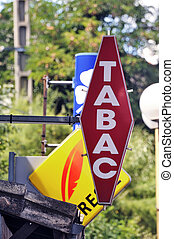French sign of a tobacconist