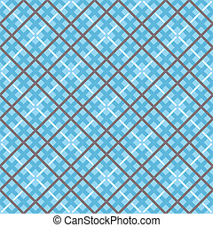 Seamless Checkered Background - Vector illustration of a...
