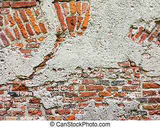 brick wall - An image of an old brick wall background