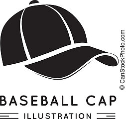 Baseball Cap in Flat Style Vector illustration