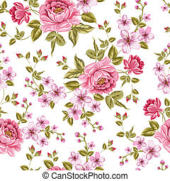 Luxurious color peony pattern - Luxurious color peony...