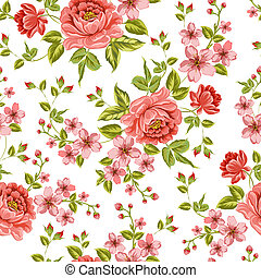 Luxurious color peony pattern.