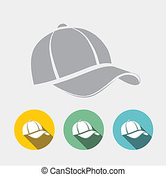 Baseball Cap in Flat Style. Vector illustration