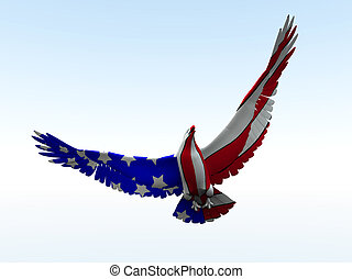 American Eagle - Concept image of an American eagle with the...