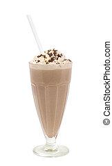 Chocolate milkshake - Popular summer cooling milkshake with...