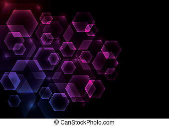 Glowing Abstract Background with He