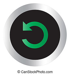 Redo single button - Redo single on circle button for used