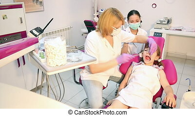 child patient in dental office