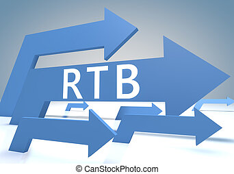 Real Time Bidding - RTB - Real Time Bidding 3d render...