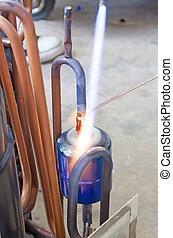 Copper pipe repair.