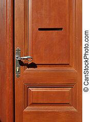Brown door - New brown door and luch in close up