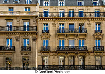 Parisian Architecture - A Parisian apartment building near...