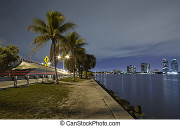 Biscayne Bay Skyline - Miami and Biscayne Bay Skyline