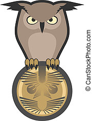 Owl symbol - Creative design of owl symbol