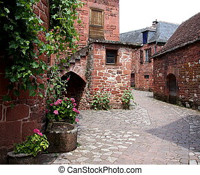 Collonges la Rouge Street - Collanges la Rouge, situated in...