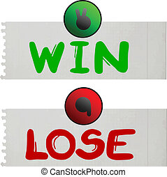 win and lose card