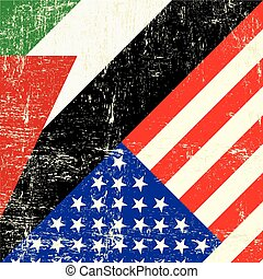 American_and_palestinian grunge flag - USA and palestinian...
