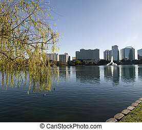 Park in Downtown Orlando - Lake Eola Park in Downtown...