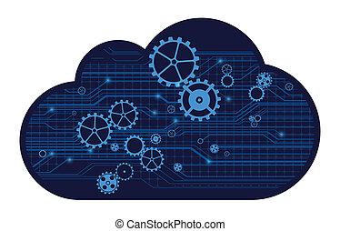 Cloud technology, vector