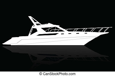 Luxury Yacht , vector