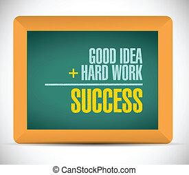 éxito, ecuación, mensaje, Ilustración,...