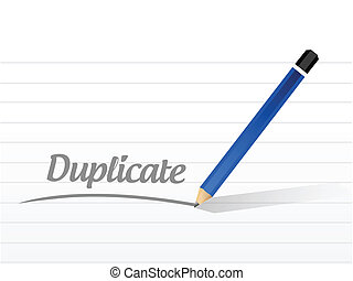 duplicate message illustration design over a white...