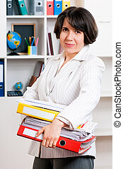 Business woman - Portrait of business woman or teacher with...