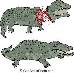 Gore crocodile - Creative design of gore crocodile