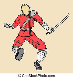 Red ninja - creative design fo red ninja