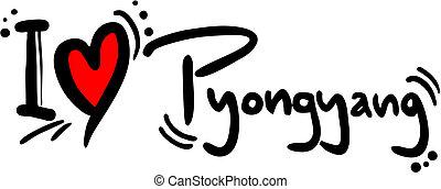 Pyongyang love - Creative design of pyongyang love