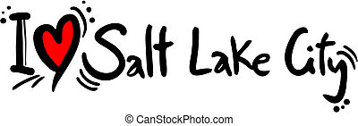 Salt lake city love - Creative design of Salt Lake city love