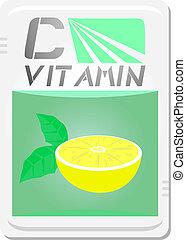 Vitamin C - Creative design of vitamin c