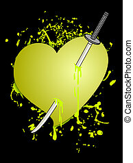 YEllow heart - Creative design fo yellow heart