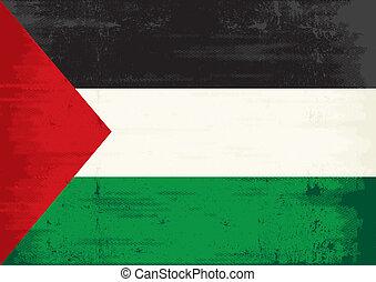 Palestinian flag grunge