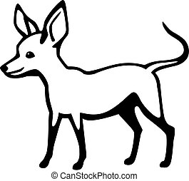 Chihuahua - vector drawing of a little smiling chihuahua dog...