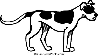American Pit Bull - vector drawing of a friendly american...