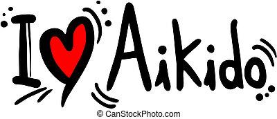 Aikido love - creative design of aikido love