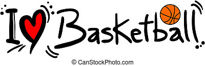 Basketball love - creative design of basketball love