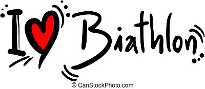 Biathlon love - creative design of biathlon love