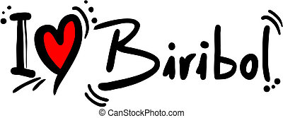 Biribol love - Creative design of biribol love